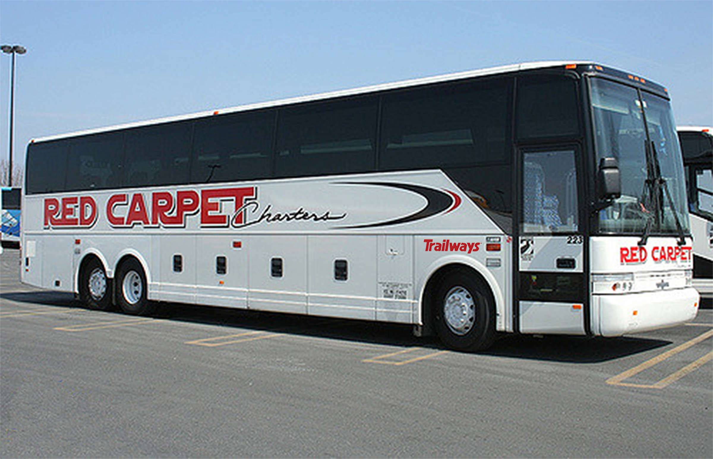 Red Carpet Charters with Trailways Logo